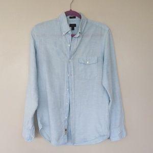 JCrew Slim Linen long sleeve Shirt Casual Button
